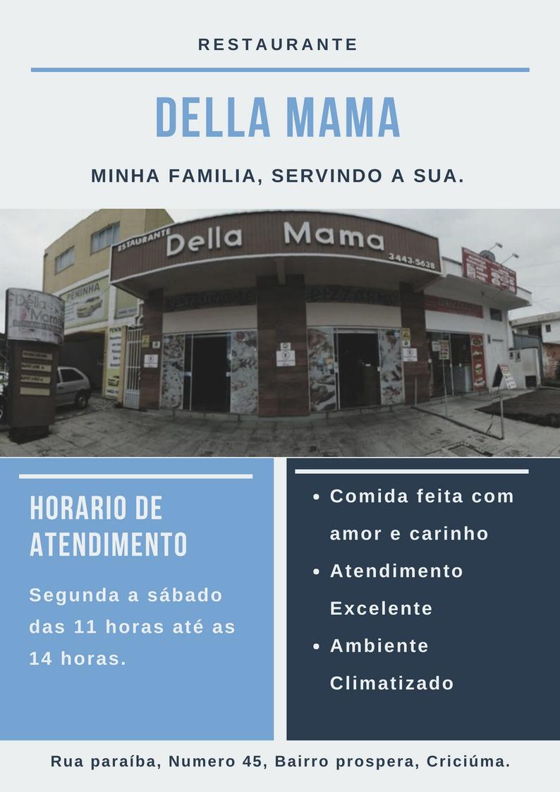 Capa de informações Restaurante Della Mama
